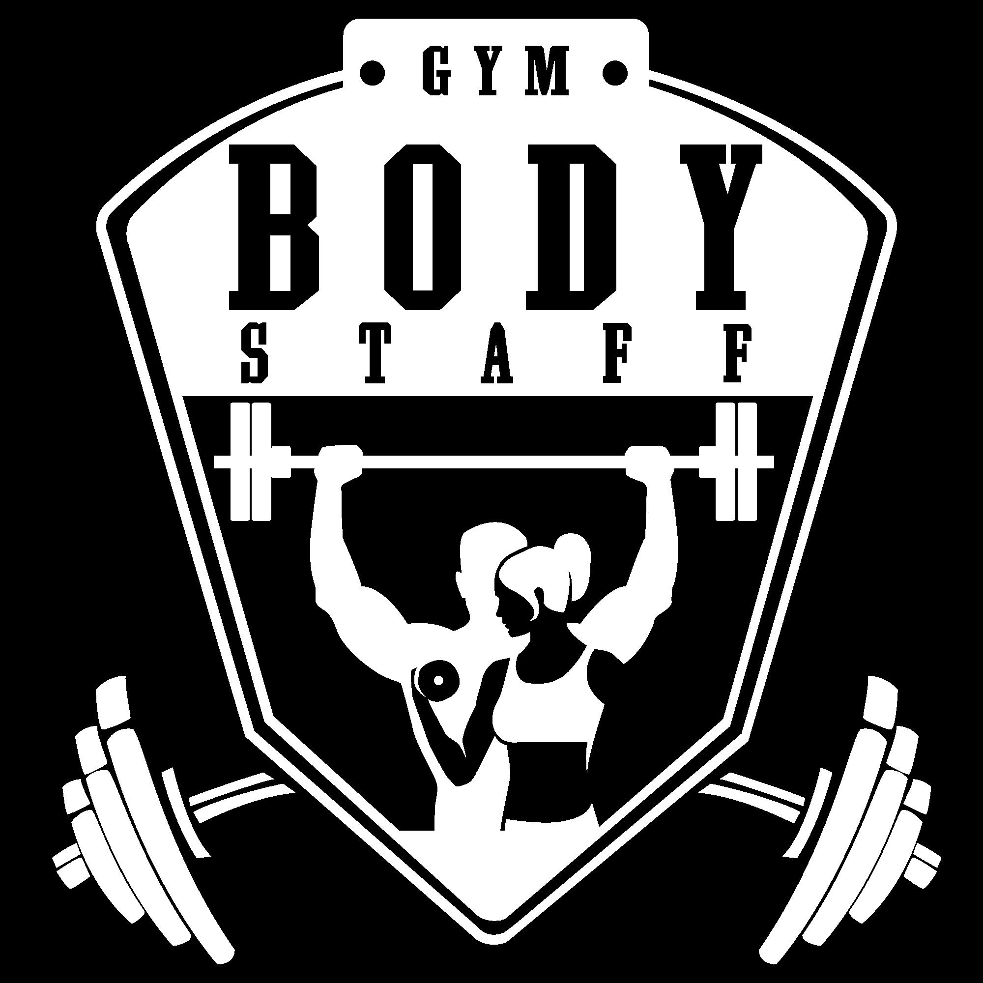 Logo Blanc sans fond (transparent) Body Staff Gym salle de sport à Artigues-près-Bordeaux